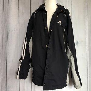 Men's Vintage Adidas 3 Stripe Button Down Jacket